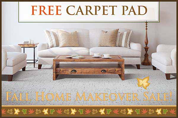 Get a Free Carpet pad during our Fall Home Makeover Sale at Murley's Floor Covering in Kennewick, WA