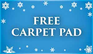 Get a free carpet pad during our New Year New Floor sale at Murley's Floor Covering in Kennewick