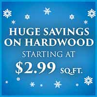 Hardwood starting at $2.99 sq.ft during our New Year New Floor sale at Murley's Floor Covering in Kennewick