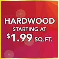Hardwood Flooring starting at $1.99 sq.ft. during our National Gold Tag Sale at Murley's Floor Covering in Kennewick